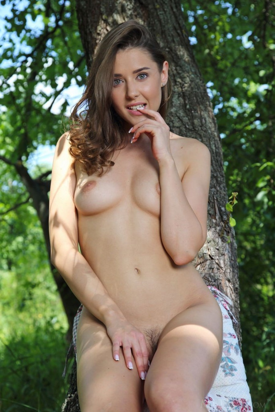 A naked picnic in the woods