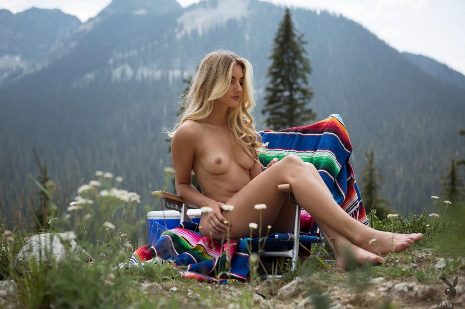 Nude girl on birthday card