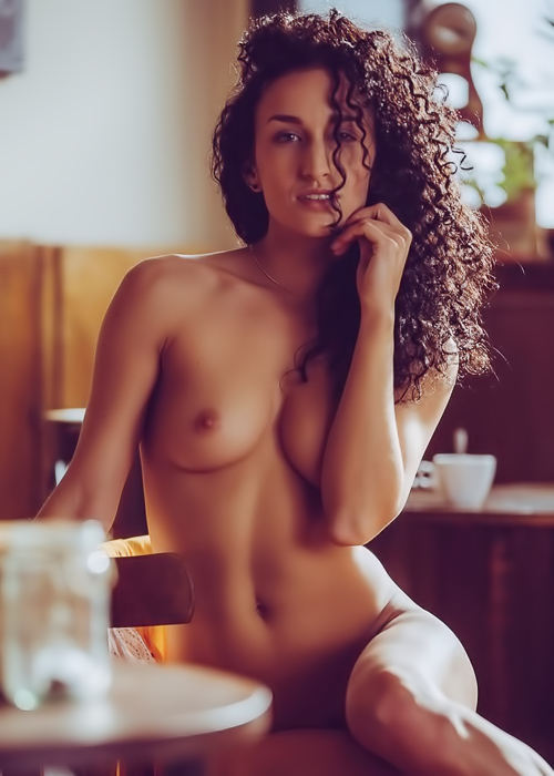 Curly haired ebony princess