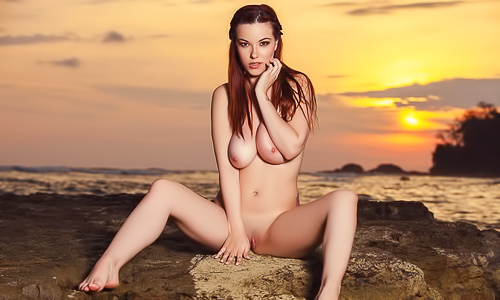Sunsets with busty babes mash up
