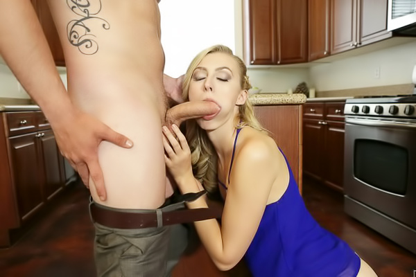 Fucking the handyman in the kitchen