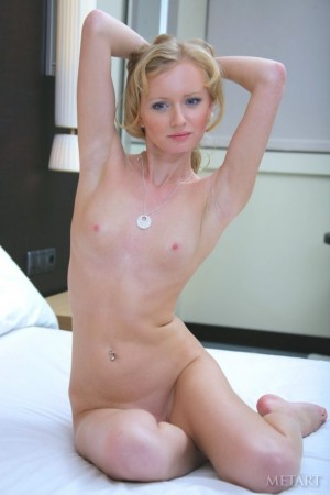 Very pretty blue eyed blonde naked