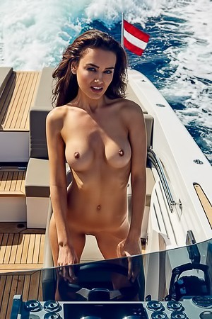 Veronika Klimovits On Boat Posing