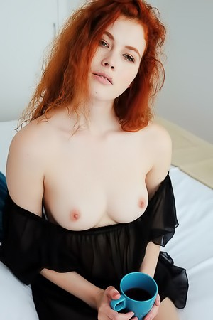 Redhead Hottie Adel C With Small Boobs